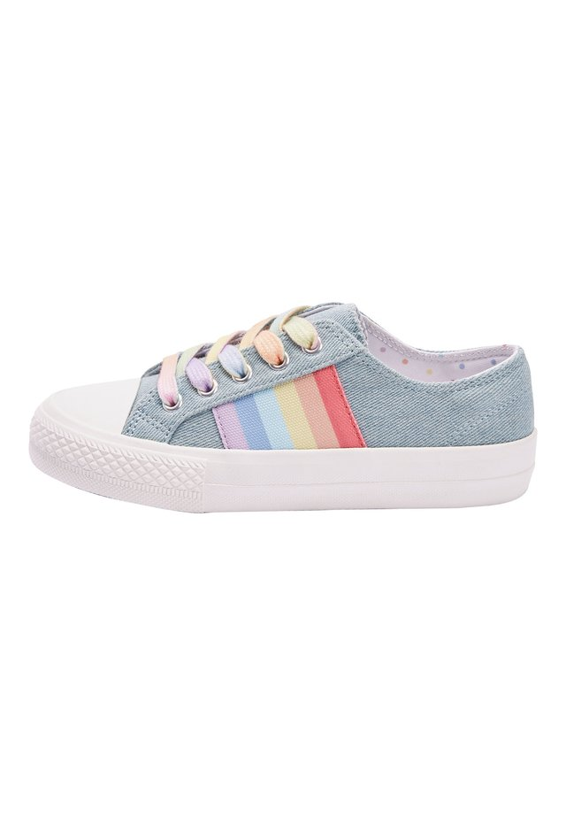 WHITE LACE-UP TRAINERS (OLDER) - Trainers - blue