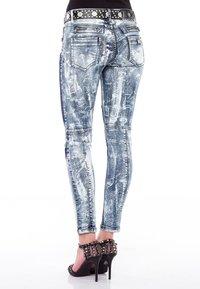Cipo & Baxx - MIT BIKER-ELEMENTEN - Jeans Skinny Fit - blau - 4