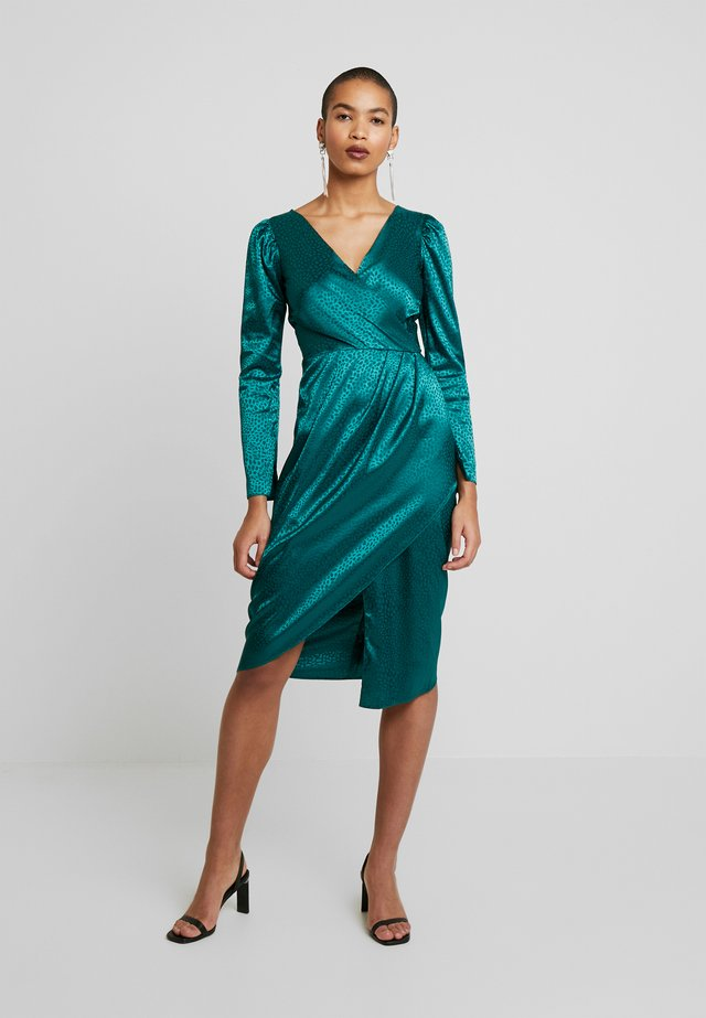 DRAPE SKIRT WRAP DRESS - Kjole - green