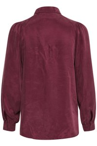 My Essential Wardrobe - Button-down blouse - oxblood red - 5