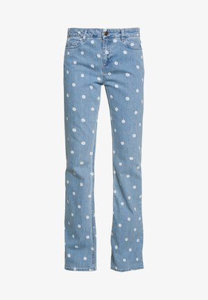 EVA TROUSER - Flared-farkut - denim/off-white