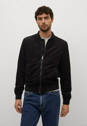 MIT WILDLEDER-EFFEKT - Faux leather jacket - schwarz