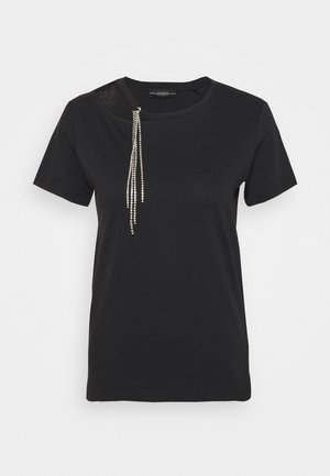 AMICE TEE - T-shirt con stampa - jet black