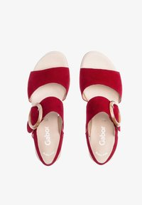 Gabor - Wedge sandals - rot - 1