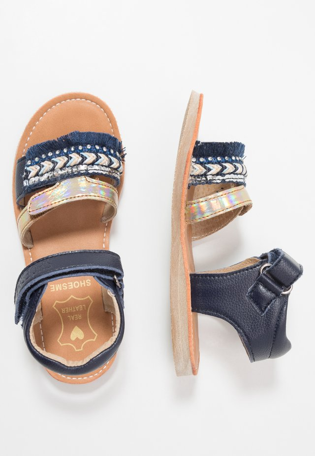 CLASSIC - Sandals - blue/white