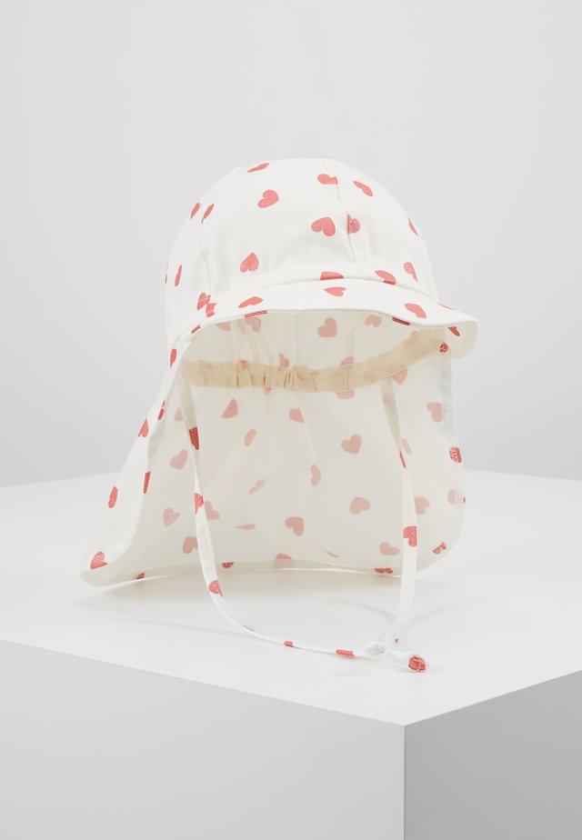 MINI GIRL MIT NACKENSCHUTZ - Mütze - weiß/pink rose
