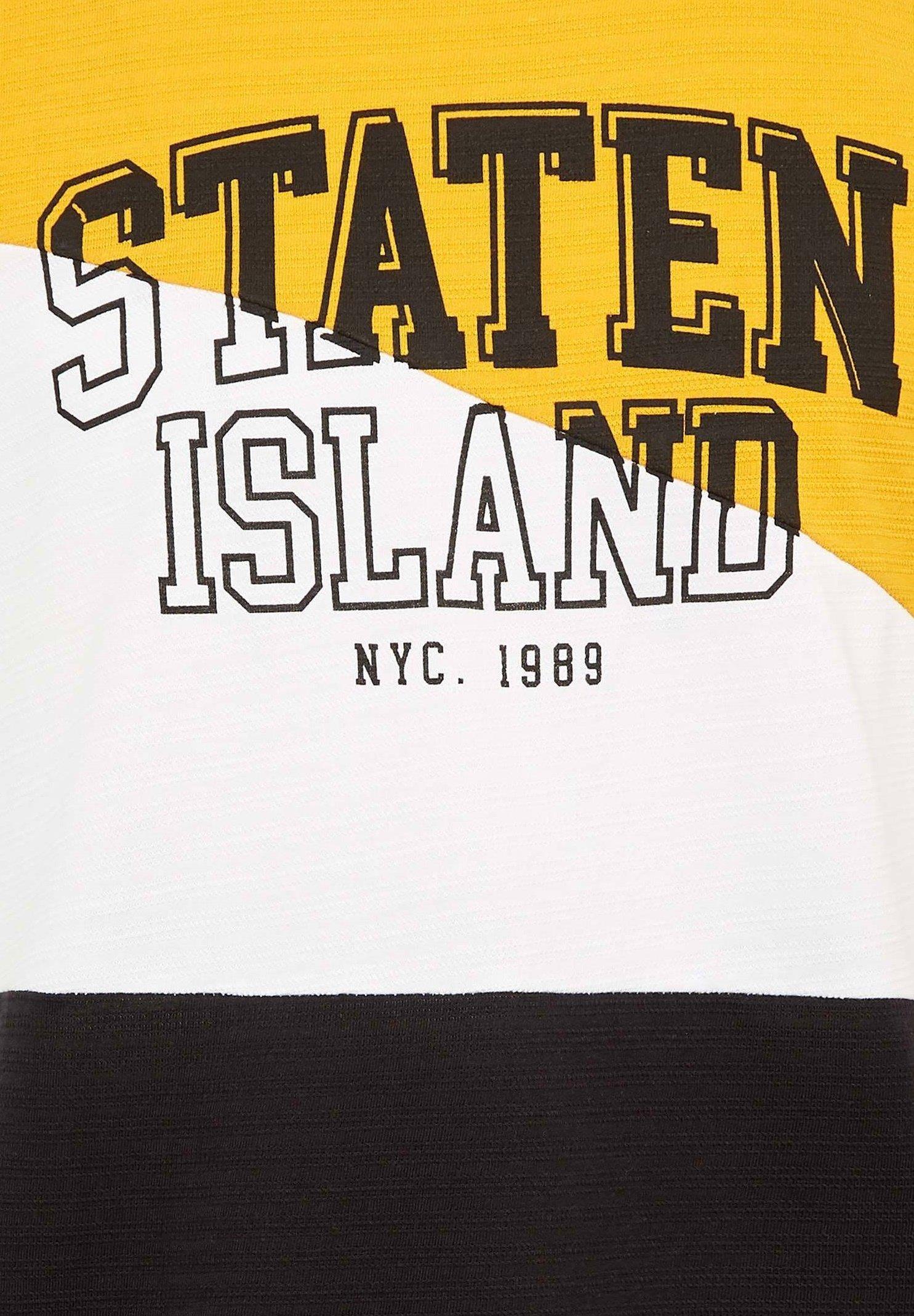 DeFacto Print T-shirt - yellow gPdke