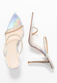 BEBO - HELENA - Pantofle na podpatku - silver - 3