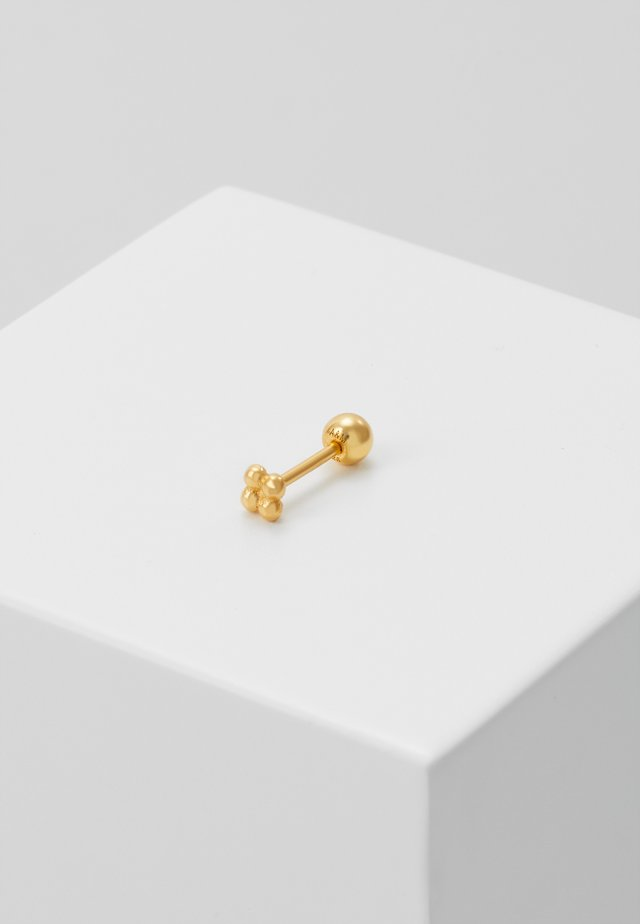 SQUARE BALL BARBELL - Øreringe - gold-coloured