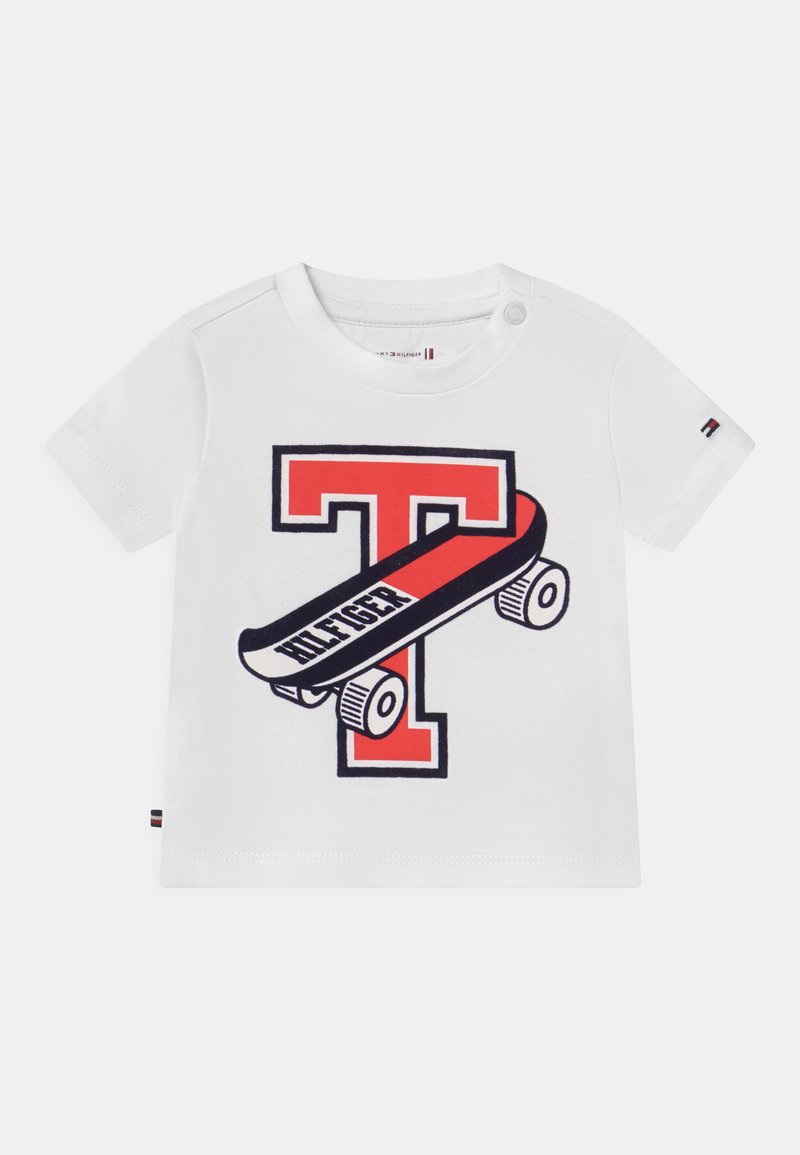 Tommy Hilfiger - BABY SKATEBOARD UNISEX - Triko spotiskem - white
