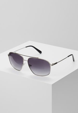 Sunglasses - shiny silver-coloured/grey gradient