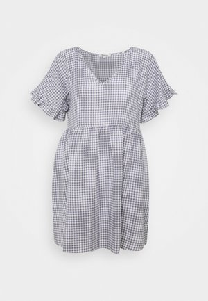 RUFFLE SLEEVE EASY MINI DRESS - Day dress - dusk peri