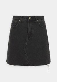 Dr.Denim - ECHO SKIRT - Mini skirt - charcoal black - 4