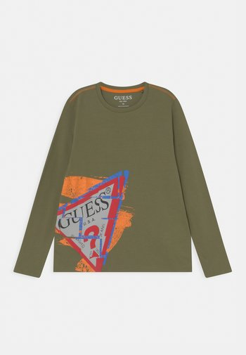 JUNIOR - Maglietta a manica lunga - vert/greek olive
