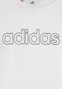 adidas Performance - UNISEX - T-shirts print - white/black - 2