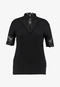 ONLY Carmakoma - HIGHNECK - Print T-shirt - black - 3