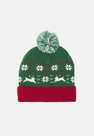 CHRISTMAS BEANIE UNISEX - Lue - green/red