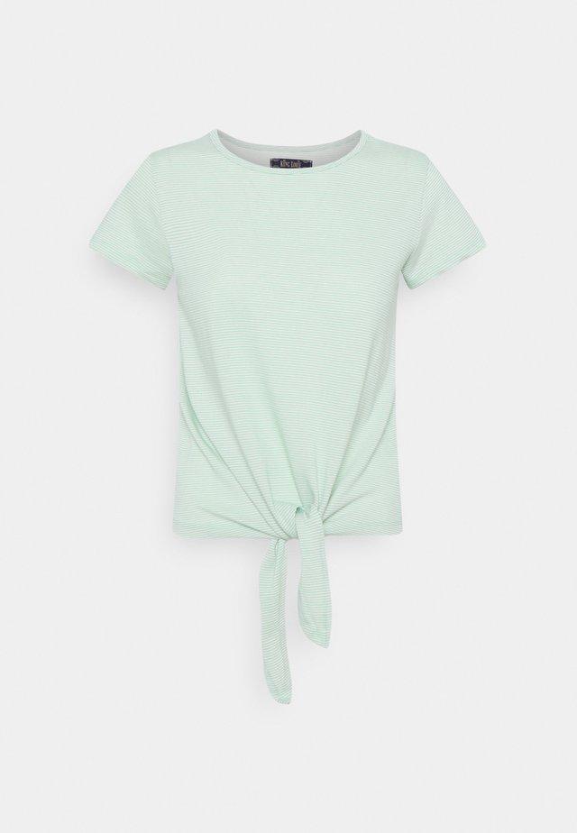 KNOT BABYLON STRIPE - Print T-shirt - neptune green