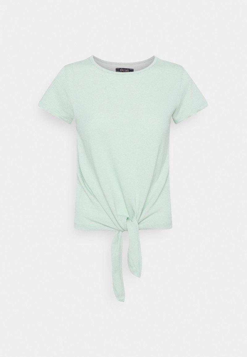 King Louie - KNOT BABYLON STRIPE - Print T-shirt - neptune green