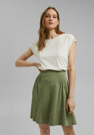 FLARE SKIRT - Mini skirt - light khaki