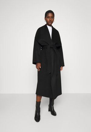 BATHROBE COAT - Mantel - black