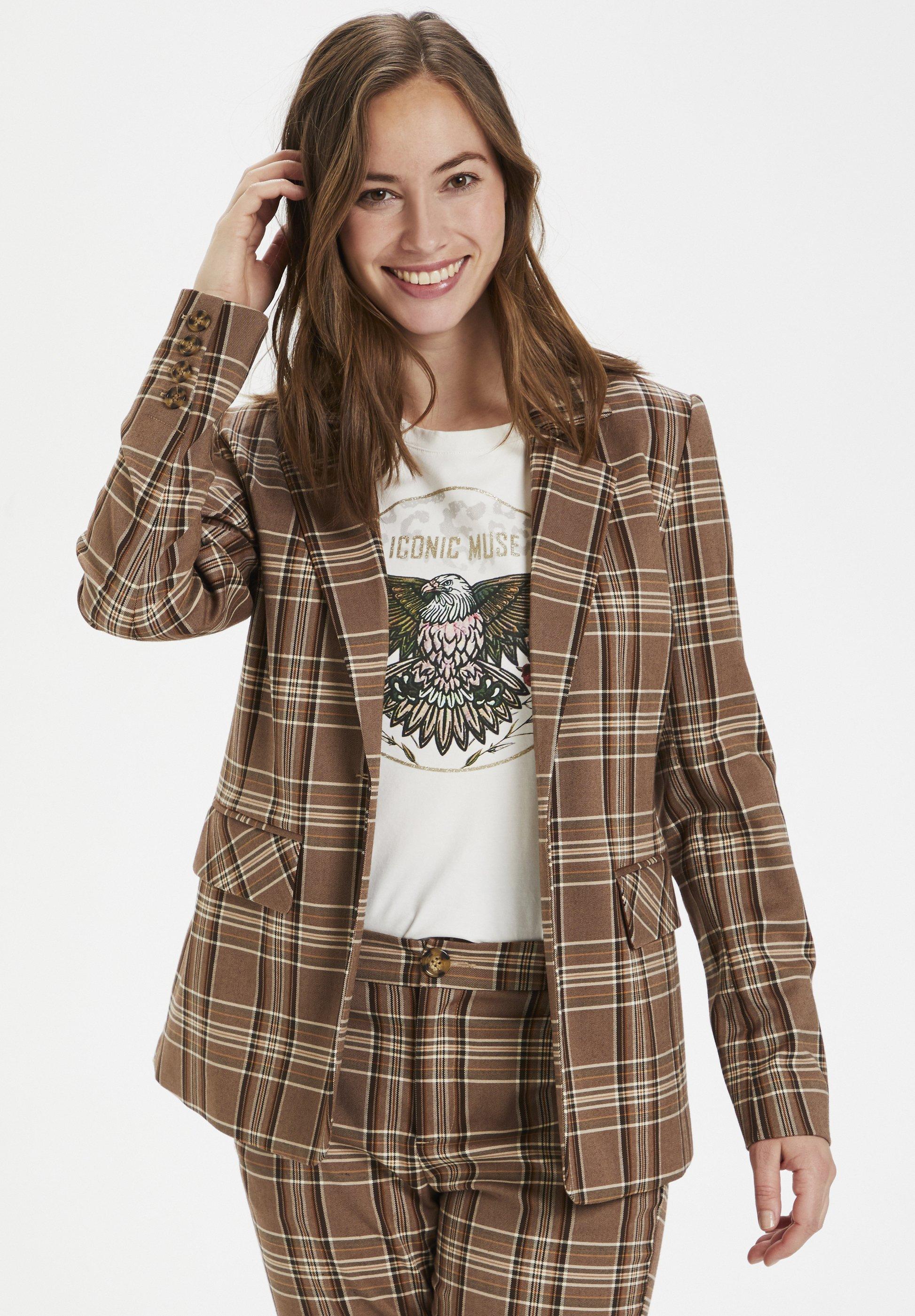 Culture Blazer - brown check - Vestes Femme Jh5c0