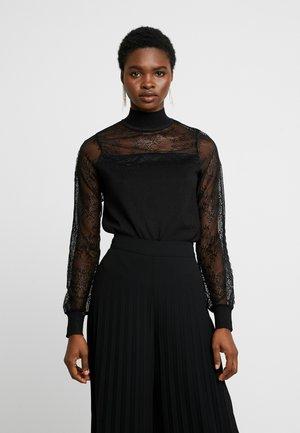 YOKE AND SLEEVE - Pullover - black