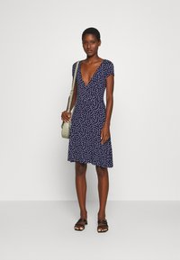 Anna Field - Jersey dress - maritime blue/white - 1