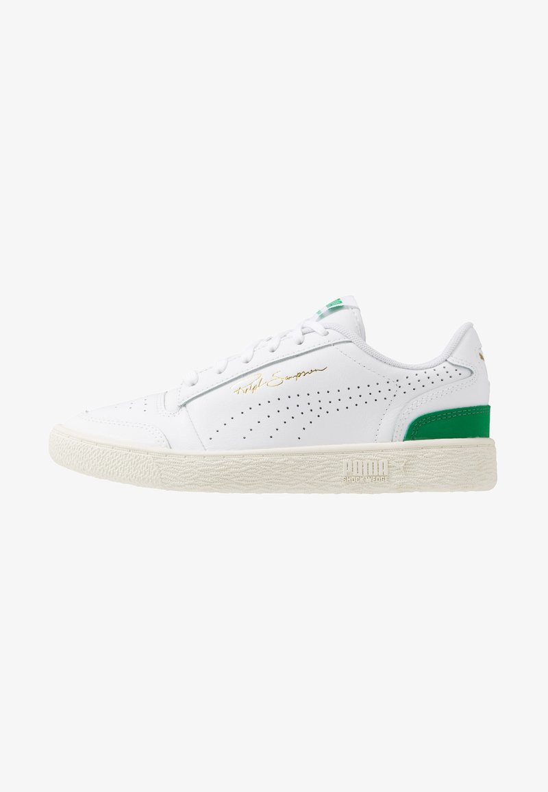 Puma - RALPH SAMPSON - Baskets basses - white/amazon green/whisper white