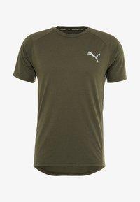 Puma - EVOSTRIPE TEE - Basic T-shirt - forest night - 4
