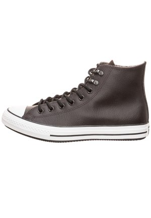 CONVERSE CHUCK TAYLOR ALL STAR WINTER LEATHER HI SNEAKER - High-top trainers - velvet brown / white / black