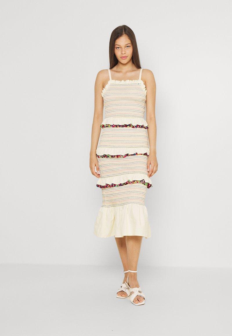 Never Fully Dressed - POM POM RAINBOW DRESS - Day dress - multi coloured