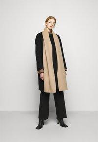 Theory - SCARF COAT LUXE NEW - Classic coat - black/palomino - 0