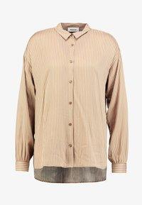 Modström - TAMIR PRINT - Button-down blouse - camel stripes - 3