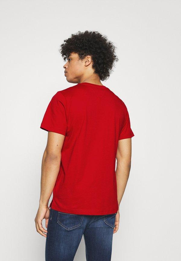 Tommy Jeans CONTRAST POCKET TEE - T-shirt z nadrukiem - red/czerwony Odzież Męska TWTR