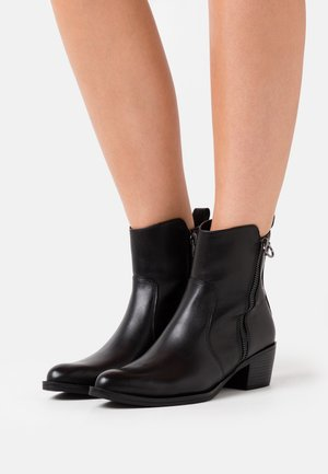 BOOTS - Cowboy/biker ankle boot - black antic