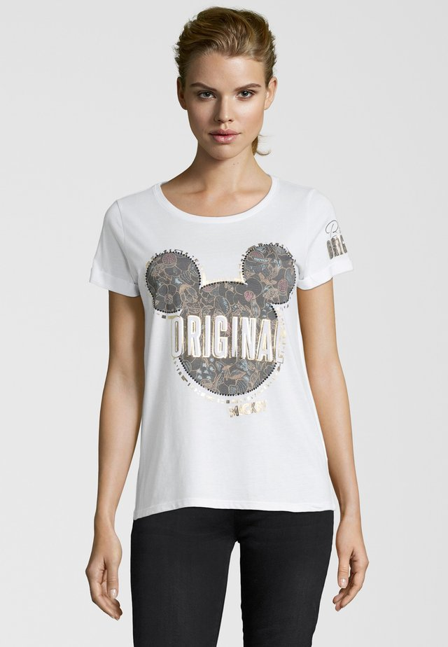 T-shirt con stampa - clear whit