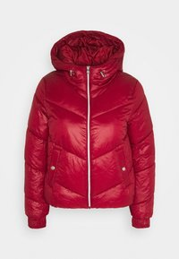 ONLY - ONLHOLLY HOODED PUFFER JACKET - Light jacket - rhubarb - 0