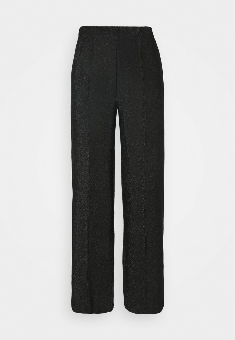 Pieces - PCRINA MW WIDE PANT - Bukse - black