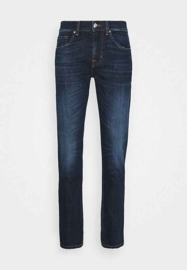 SLIMMY TAPERED CRASH  - Jeans fuselé - dark blue