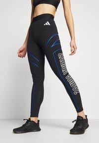 adidas Performance - GRAPHIC - Leggings - black - 0
