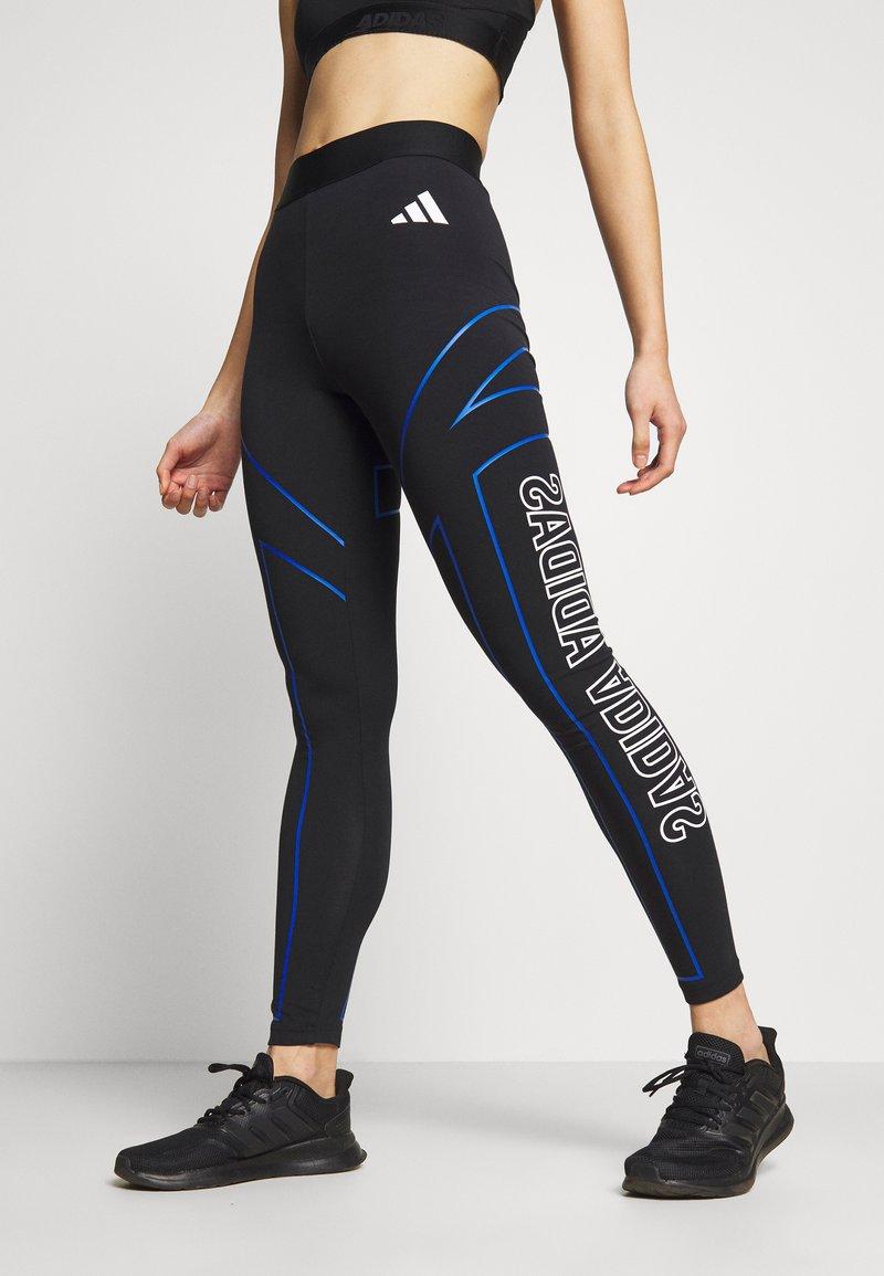 adidas Performance - GRAPHIC - Leggings - black