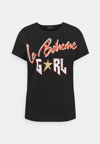 LA BOHEME GIRL BOXY TEE - Printtipaita - black