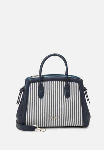 KNOT STRIPE MEDIUM SATCHEL - Handbag - blazer blue