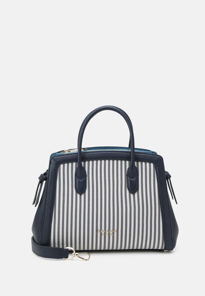 kate spade new york - KNOT STRIPE MEDIUM SATCHEL - Handbag - blazer blue