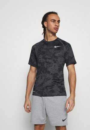 SLIM  - Camiseta estampada - iron grey/white