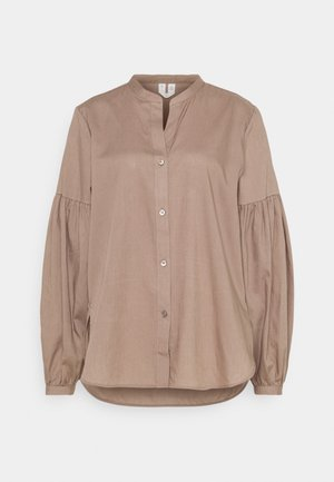BLOUSE - Button-down blouse - taupe