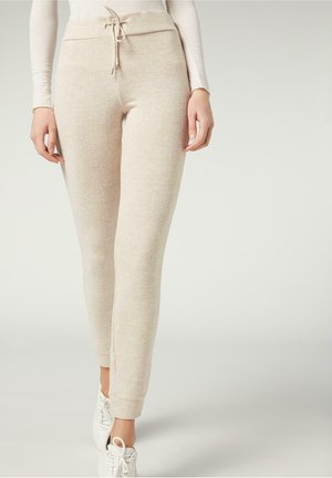 KOMFORT - Leggings - Trousers - naturale melange
