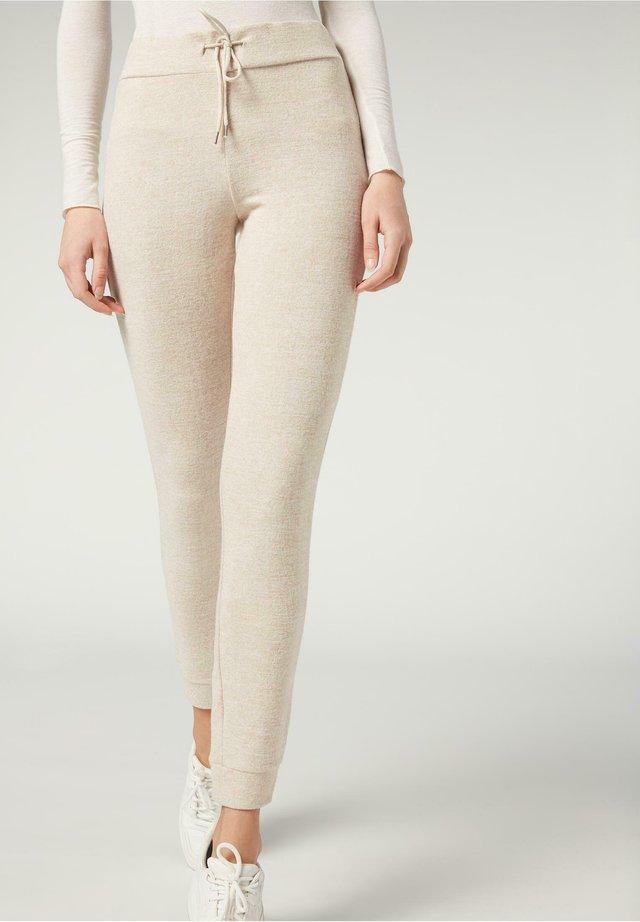KOMFORT - Leggings - Trousers - naturale melange
