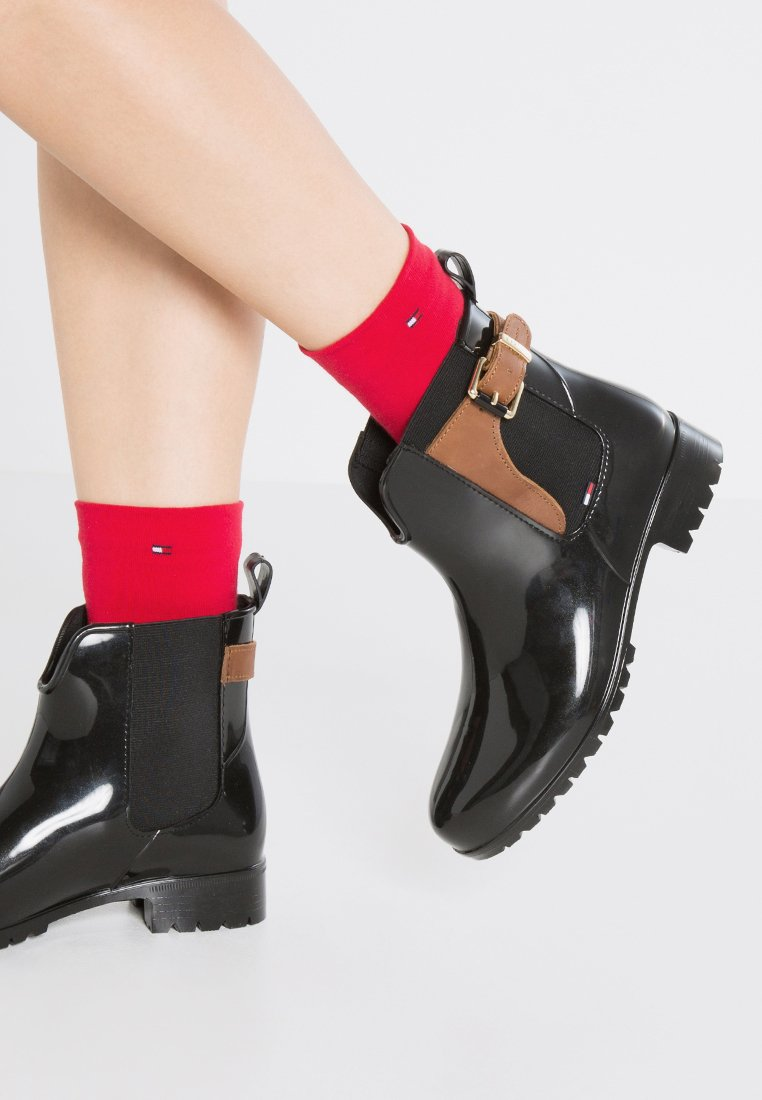 Tommy Hilfiger - OXLEY - Wellies - black/winter cognac